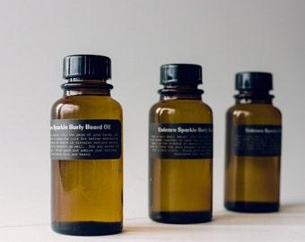 Unicorn Sparkle Burly Beard oil.