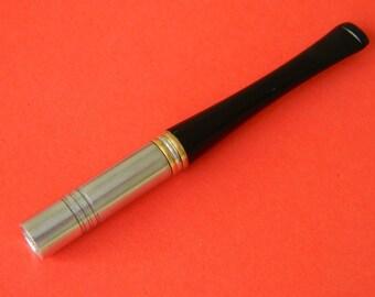"3.9""/10cm Cigarette Holder - REGULAR - Metal, Silver, Short, Roll ups cigarettes  -  Fits Regular cigarettes"