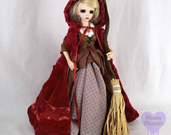 Do Not Purchase see announcementMinifee Doll Dress Red Riding Hood Steampunk BJD SLIM MSD Ruby Once Upon A Time Outfit