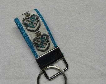 Mini Zeta Tau Alpha crest key fob