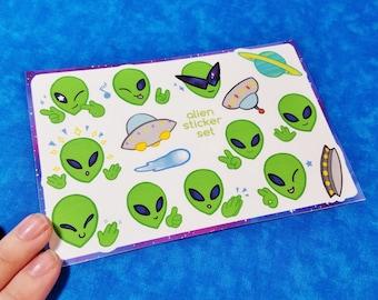 Aliens Sticker Sheets