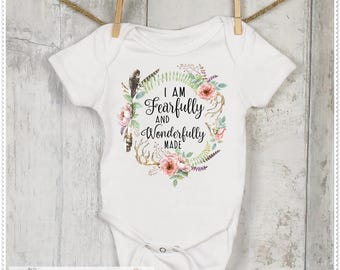 Nonoo183 on etsy i am fearfully and wonderfully madegirls shower giftbaby girls clothingpersonalized baby giftnewborn clothing girls shower giftgc07 negle Image collections