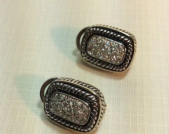 Pretty Little Pave Rhinestone Earrings