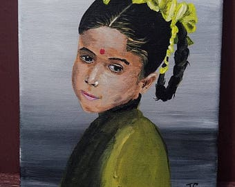 Girl with ribbons in hair