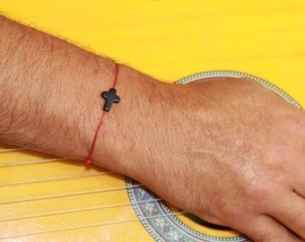 Bracelet Corsica cross resin with adjustable cord