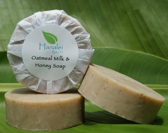 Oatmeal, Milk & Honey Soap, Cold Process Soap. Palm Oil Free Soap