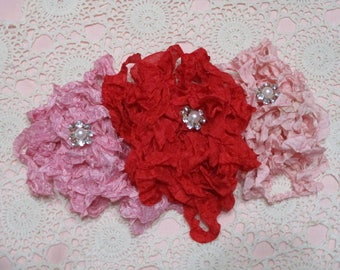 15 yards of Pretty Ribbons-Classic Valentine-Seam Binding-Crinkled-ATC-Supplies