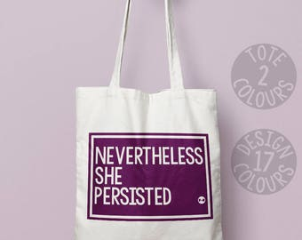 Nevertheless she persisted personalised gift, feminist, protest, present for her, xmas present, she persisted, feminist, girl power