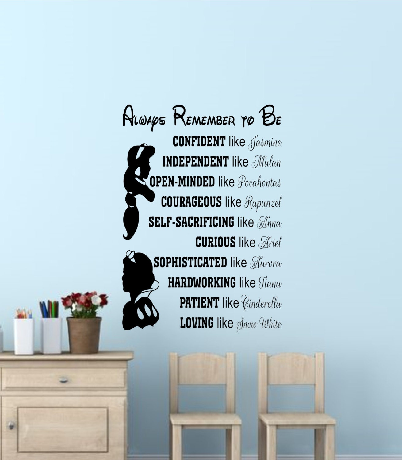 Disney princess wall quotes disney signs disney princess wall zoom amipublicfo Gallery