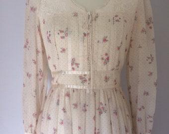 Vintage Gunne Sax Boho Corset Dress