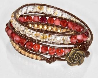 Red Chan Luu Wrap Bracelet Red Bracelet Women's Wrap Bracelet