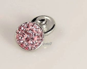 Mini Pink sugar,mini snap charm,compatible with other Mini snap jewelry,magnolia mini snaps,style dot snaps,petite Ginger mini snaps