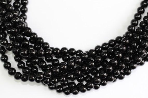 "Black Onyx  2-14mm smooth round beads 16"" length full strand"