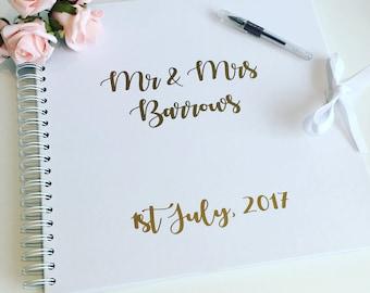 Wedding guest book, wedding album, wedding scrapbook, memory book, large size