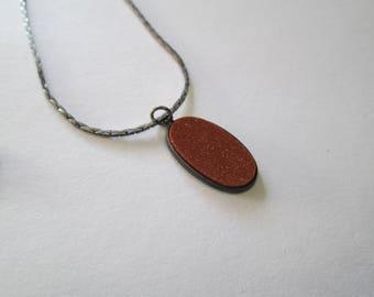 Vintage Sterling & Goldstone necklace