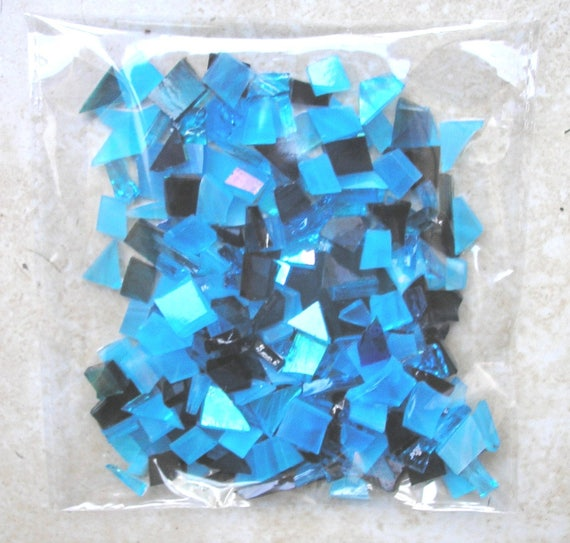 blue stained glass tiles for mosaic crafts glass pieces