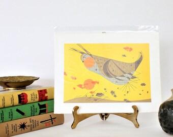 Charley Harper Art, Heath Hen, Mid Century Modern Art Print, vintage animal art,vintage art,MCM wall decor,retro home decor,mcm wall art
