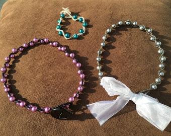 Zig-zag Pearl Necklaces