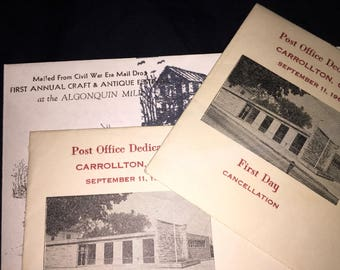 Vintage Carrollton Ohio First Day Covers