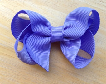 Hair bow - Iris - hair bows, bows, hair bows for girls, boutique bows, girls hair bows, toddler bows, baby bows, pigtail bows, hairbows