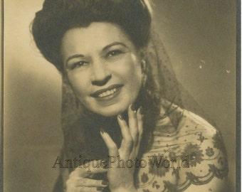 Beautiful opera singer Josepha Chekova antique photo