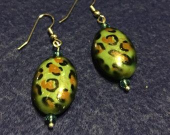 Leopard Design Bead Earings