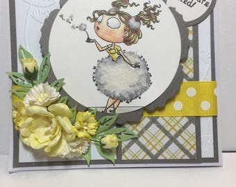 Girl Birthday Card, Bloom Where you are Planted, any occasion girl card