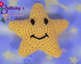 Baby Lovey  Crochet Baby Lovey  Crochet Plush Night Night Star Baby Fleece Lovey  Security Blanket  Snuggle Blanket  Baby Shower Gift