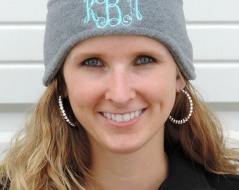 Monogrammed Fleece Headband (Ear Warmers) Embroidered with Monogram C910