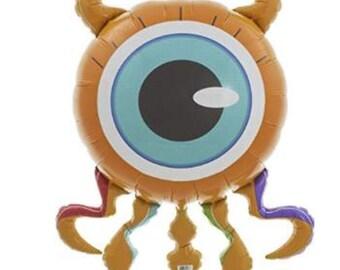"Monster Balloon 38"" Eyeball One Eye Monster Birthday Party Halloween Decoration Helium Air Mylar"