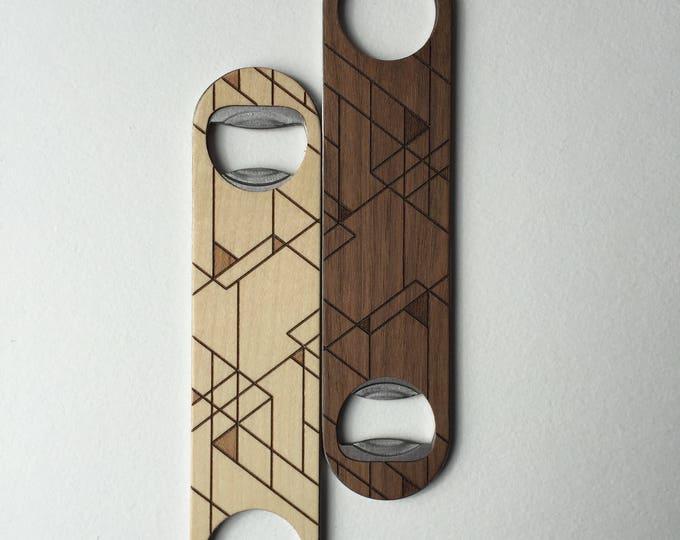 SCANDI Wood Bottle Opener | Walnut or Maple