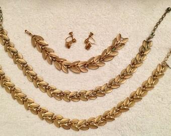 SALE - Vintage Trifari Necklace and Bracelet Set - 2 necklaces!