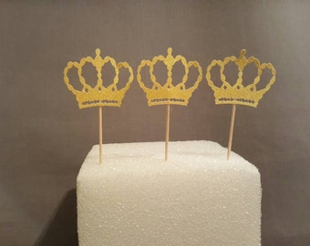 Little  Princess Crown Toppers, Bridal Shower Cupcake Toppers, First Birthday Cupcake Toppers