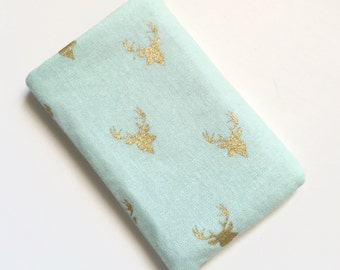 Pill pack Birth Control Cozy - Tiny Deer (mint)