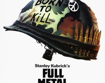 Spring Sales Event: FULL METAL JACKET Movie Poster Stanley Kubrick Vietnam War