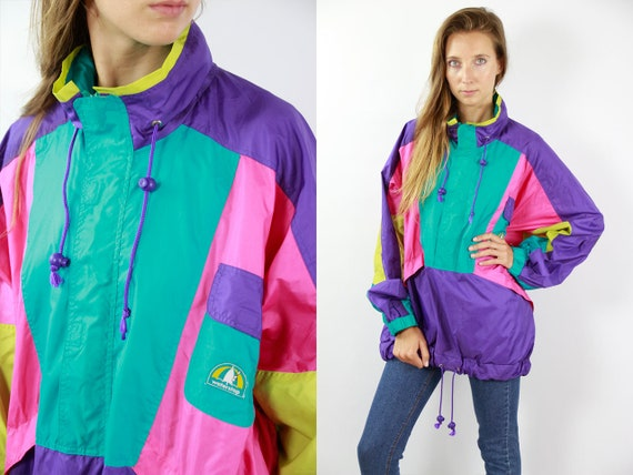 Vintage Windbreaker Vintage Track Jacket Retro Windbreaker Jacket Vintage Jacket Vintage Windbreaker 90s Track Jacket Retro Tracksuit Top
