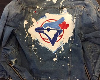Custom hand painted denim jackets