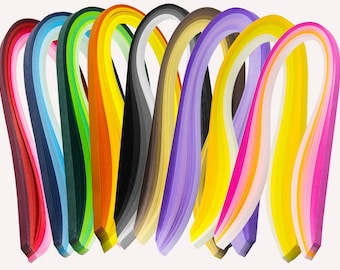 Paper Quilling DIY handmade Crafts 9 series gradient 100 strips Width 3/5mm Length 39/54cm paper art origami collage for Kids/Adults