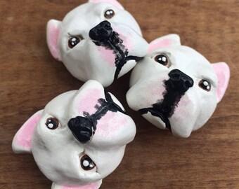 Dogo Argentino magnet set, Argentine Mastiff magnets, dog lover gift
