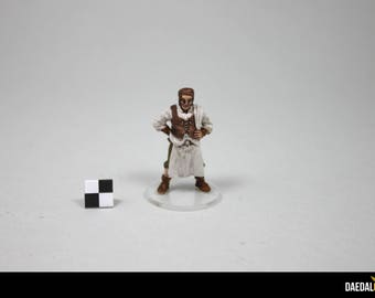 Dungeons and dragons figurine tavernier handpainted on colorless base