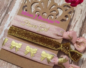 Flower girl Knotted Hair Ties