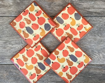Pumpkin Ceramic Coasters