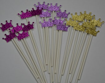 Princess tiara cakepop sticks, princess cake pop sticks, Marshmallow Sticks, tiara cakepops, Cute cake pop sticks, sparkly cakepops