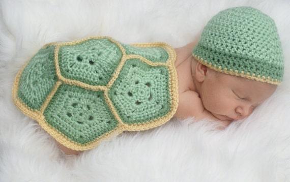 Baby-Schildkröte häkeln Outfit... Neugeborenen set...