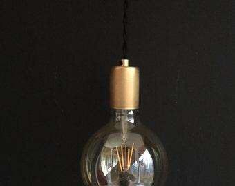 Draper Collection .  Brass Pendant Light  .  Mid Century Inspired  .  Modern Minimalist