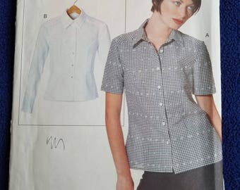 Vogue Pattern 9614 Semi-fitted Blouse ALL Sizes