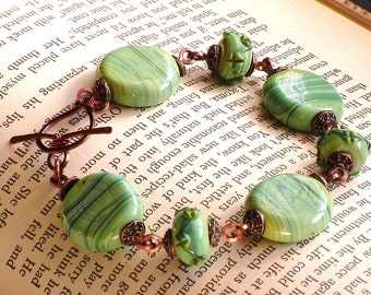 Garden of Eden Copper and Ceramic Bead Bracelet