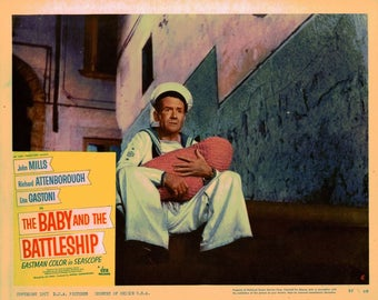 The Baby And The Battleship - 1957 - Original US lobby card  # 5