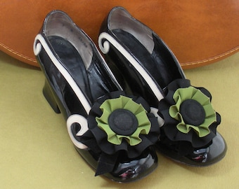 Ribbon Cocarde Shoe Clips