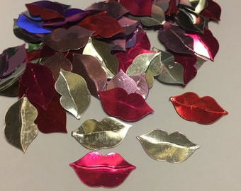 25 piece assorted lip mix confetti / sequins, 10 x 17 mm (4)